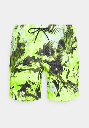 SWIM MEN REFLECTION MID - Plavky - green/yellow