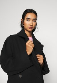 Weekday - KIA BLEND COAT - Kåpe / frakk - black - 4