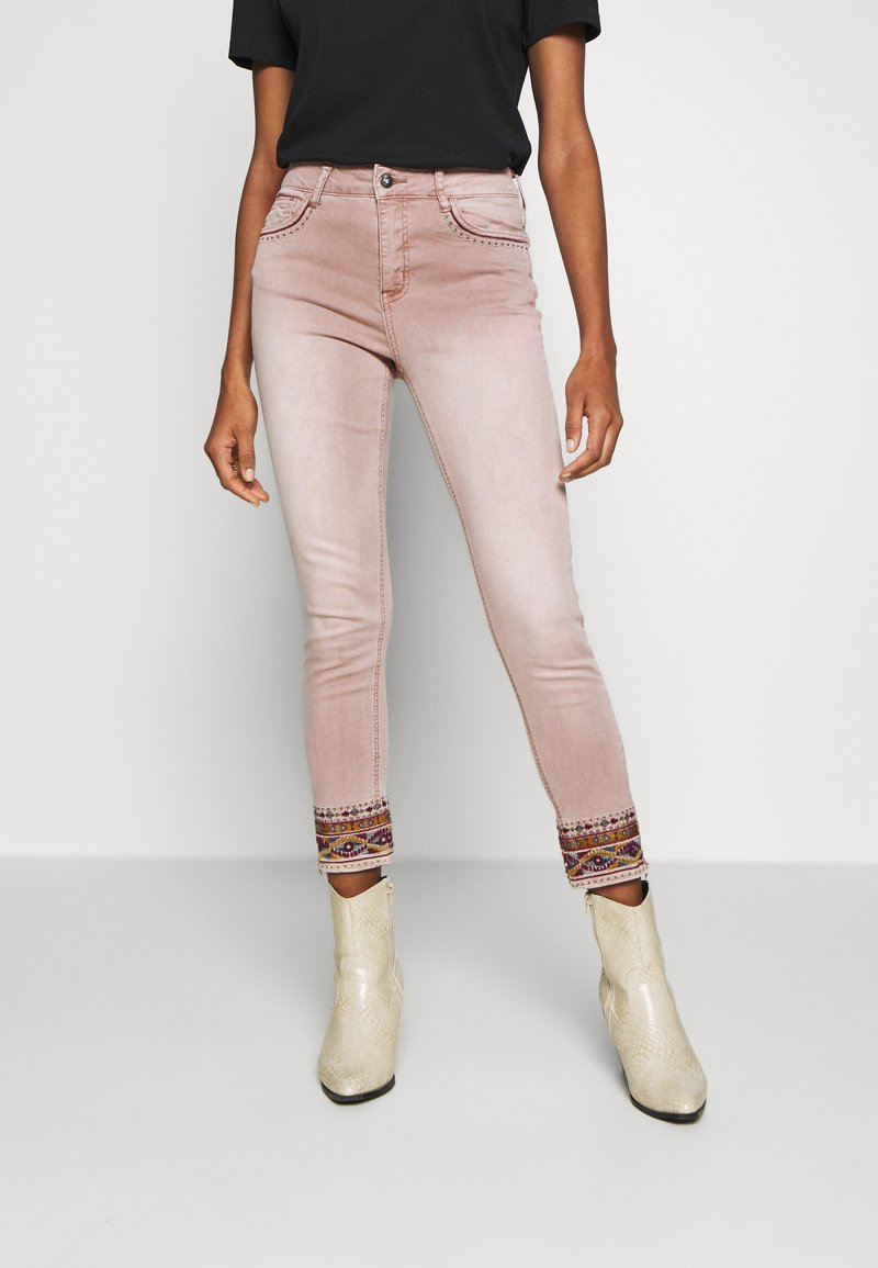 Desigual - AFRI - Skinny džíny - rosa palo
