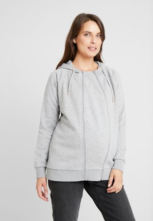 CARDIGAN 3-WAY ROMEE - Zip-up hoodie - grey melange