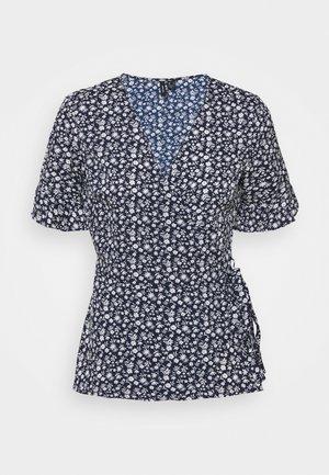 VMHENNA WRAP - Print T-shirt - navy blazer
