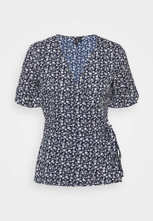 VMHENNA WRAP - T-shirts med print - navy blazer