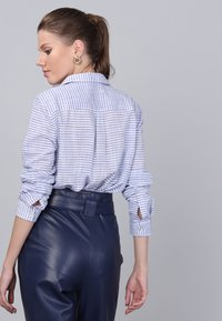 Basics and More - Button-down blouse - blue - 3