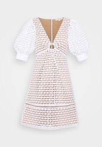 MICHAEL Michael Kors - GEO EYELET MINI DRESS - Day dress - white - 5