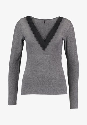 Long sleeved top - dark grey melange/black