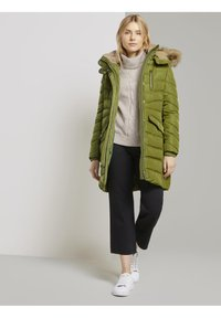 TOM TAILOR - SIGNATURE PUFFER COAT - Winter coat - wood green - 1