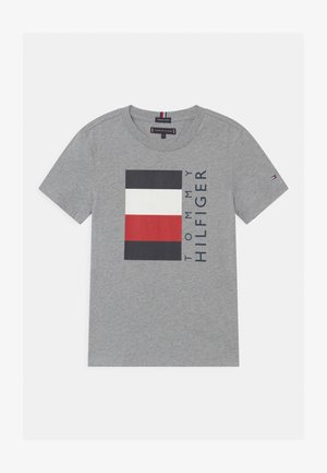 GLOBAL STRIPE  - T-shirt z nadrukiem - grey