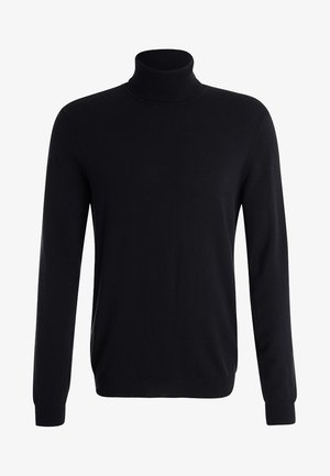 BASIC ROLL NECK - Stickad tröja - black
