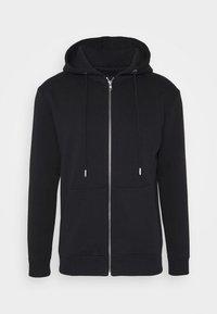 PAUL AARON HOODIE - veste en sweat zippée - black