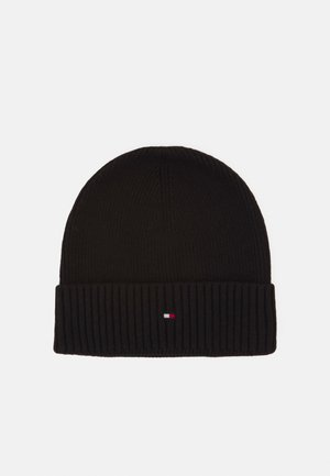 PIMA COTTON BEANIE - Lue - black