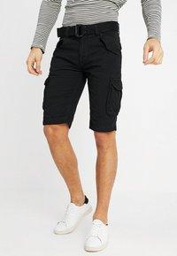 Schott - BATTLE - Shorts - black - 0