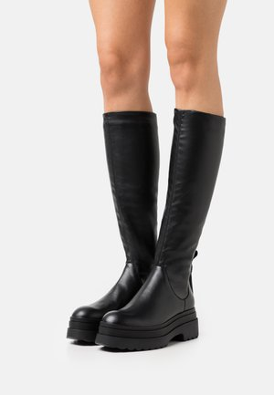 STRETCH BOOT - Platform boots - nero