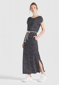khujo - DOREEN - Maxi dress - schwarz-weiß gemustert - 1