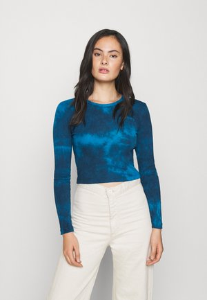 TIE DYE BABY TEE - Long sleeved top - blue