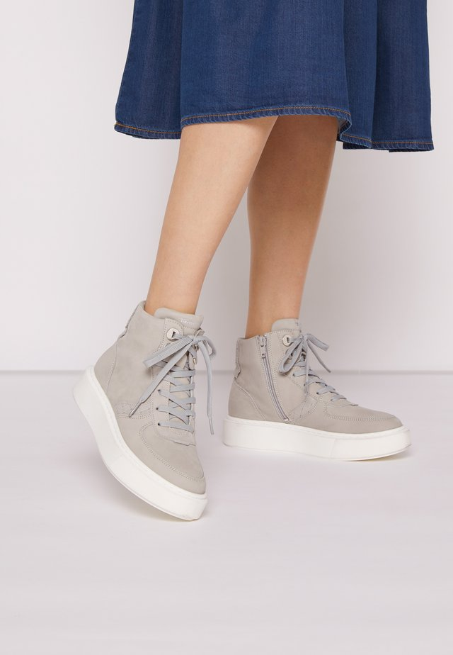 High-top trainers - soft grey