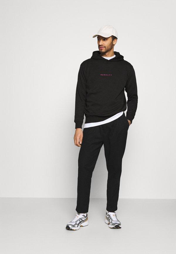 Mennace ESSENTIAL REGULAR HOODIE UNISEX - Bluza z kapturem - black/czarny Odzież Męska WFEC