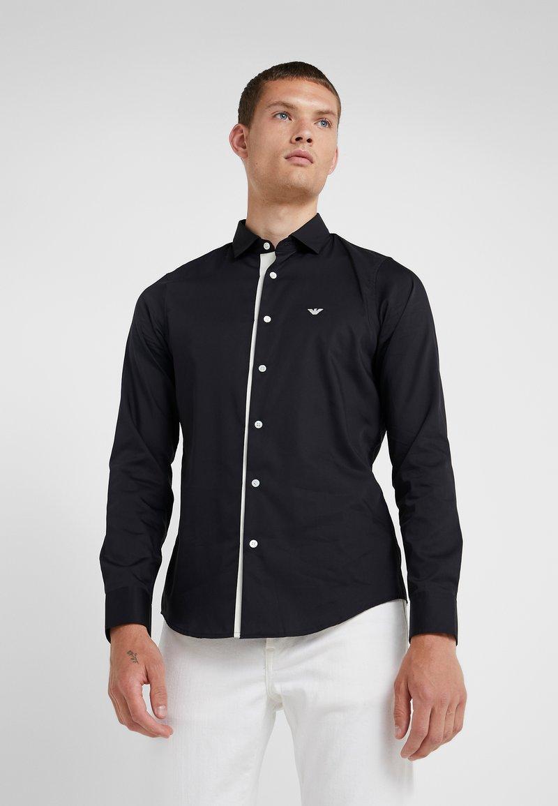 Emporio Armani - CAMICIA SLIM FIT - Formal shirt - blue navy