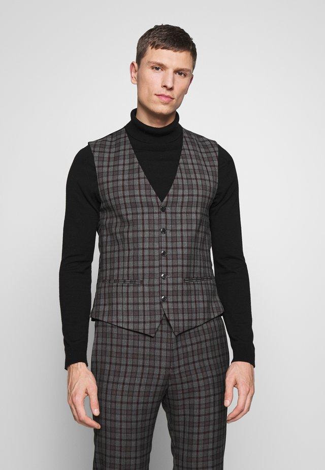 HERITAGE OVERCHECK WAISTCOAT - Vest - grey