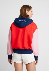 Tommy Jeans - COLORBLOCK HOODIE - Hoodie - black iris/multi - 2