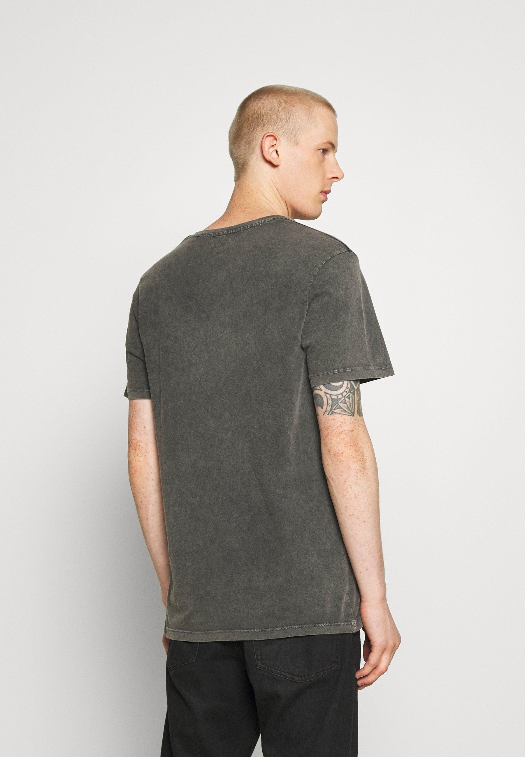 Jack & Jones JORDUTI TEE CREW NECK - Print T-shirt - black boU0M