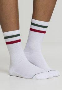 Urban Classics - 2 PACK - Socks - white green red - 1