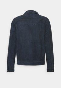Nudie Jeans - DANTE - Leather jacket - navy - 1