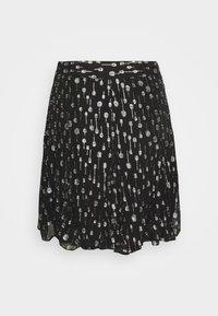 The Kooples - JUPE - Mini skirt - black/silver - 1