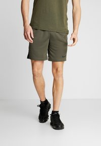 Nike Performance - SHORT TRAIN - Pantalón corto de deporte - cargo khaki/black - 0