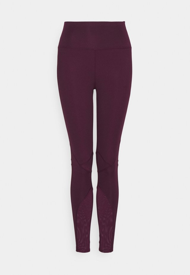 PANELLED INSERT LEGGING - Tights - fig