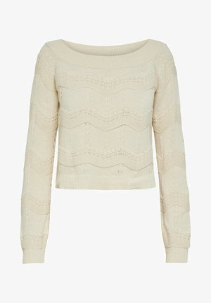 STRICKPULLOVER OFF SHOULDER - Jumper - eggnog
