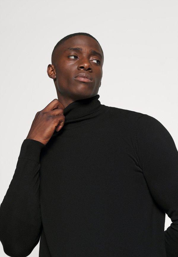 Zign Sweter - black/czarny Odzież Męska TMKW