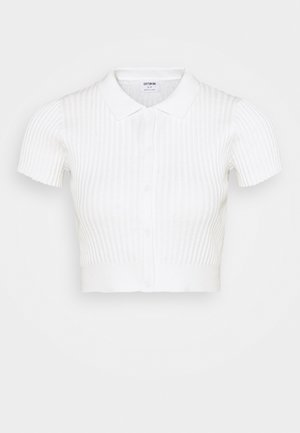 BUTTON ME UP POLO - Basic T-shirt - white