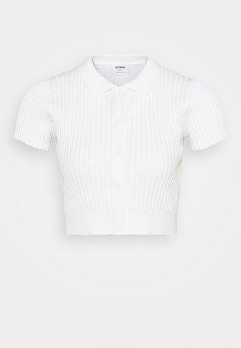 BUTTON ME UP POLO - Basic T-shirt - white