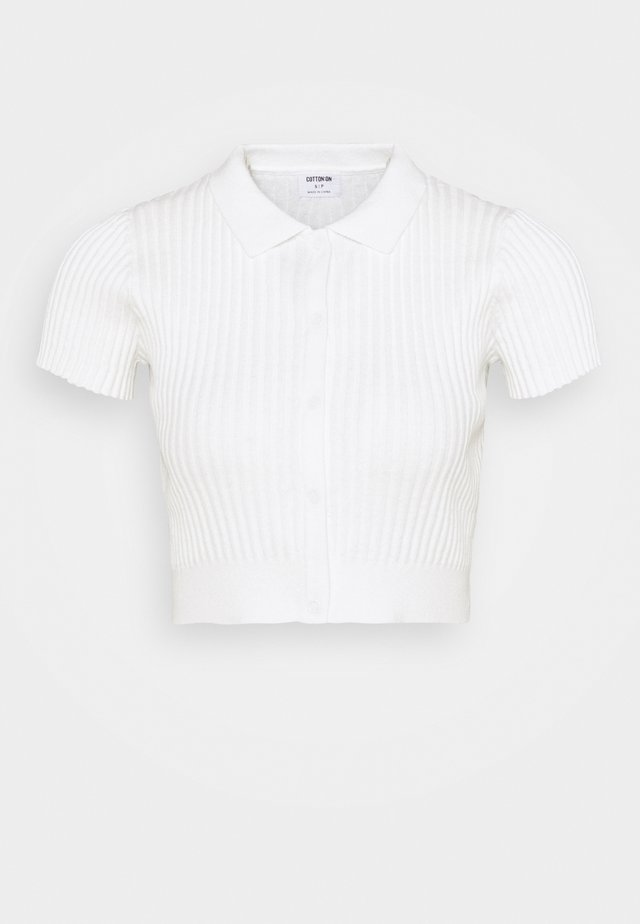 BUTTON ME UP POLO - T-shirts - white