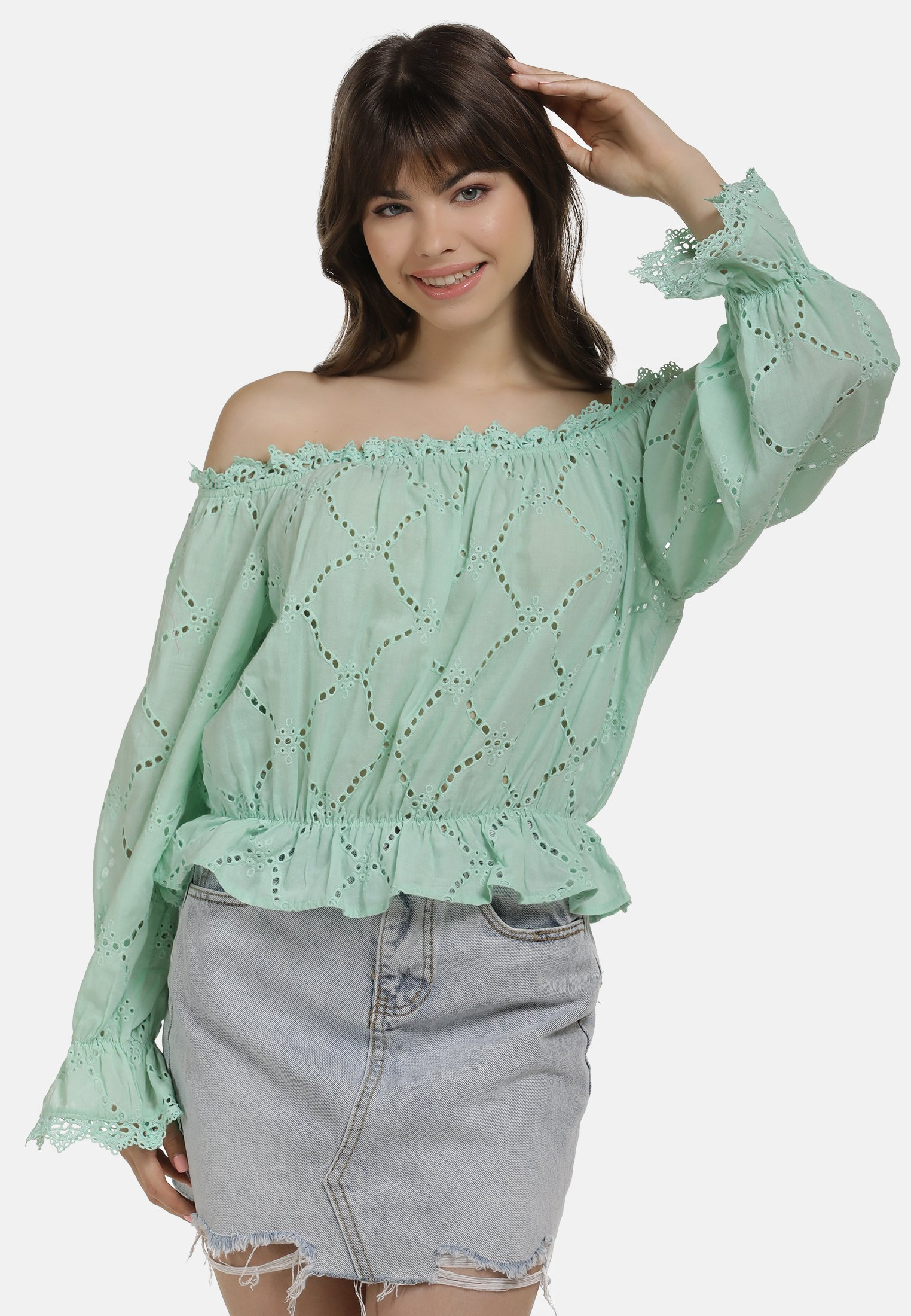 Latest Women's Clothing myMo BLUSE Blouse green GBAeUuOV8
