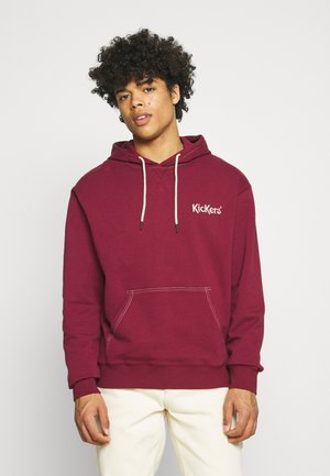 HOODED WITH CONTRAST - Hoodie - tawny port