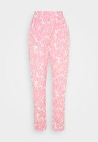 ORLANDO PANTS - Stoffhose - pink/white