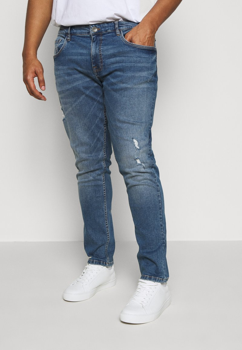 URBN SAINT - USGENEVE DESTROY - Slim fit jeans - nova blue