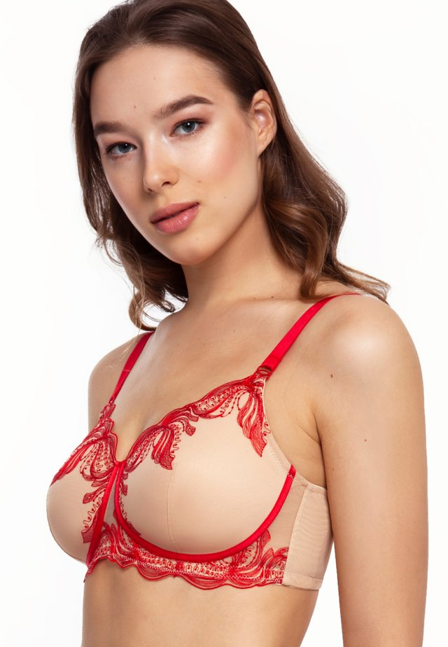 PHOENIX WIRELESS PADDED LACE - Soutien-gorge invisible - nude