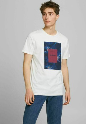 JORFLORALL - T-shirt print - cloud dancer