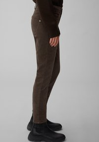 Marc O'Polo - ALBY SLIM - Trousers - dark chocolate - 3