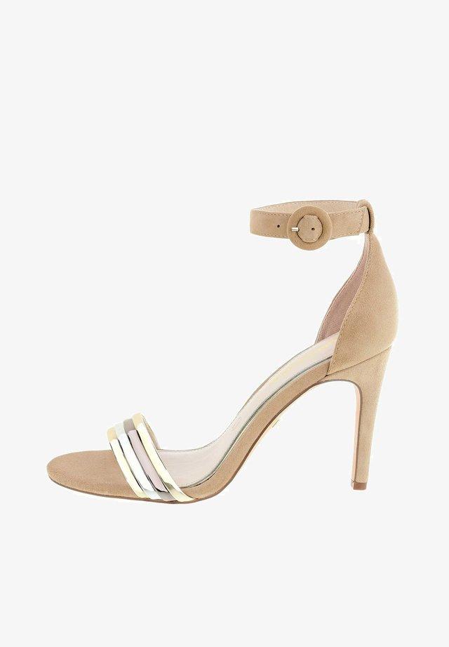 AGENO - High heeled sandals - beige