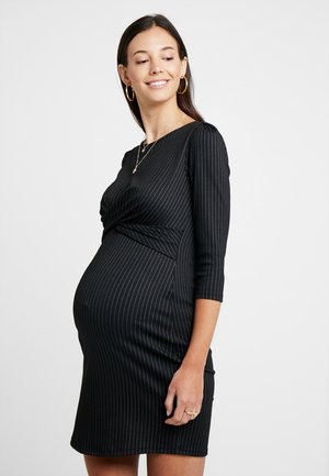 AUDREY - Shift dress - black/grey