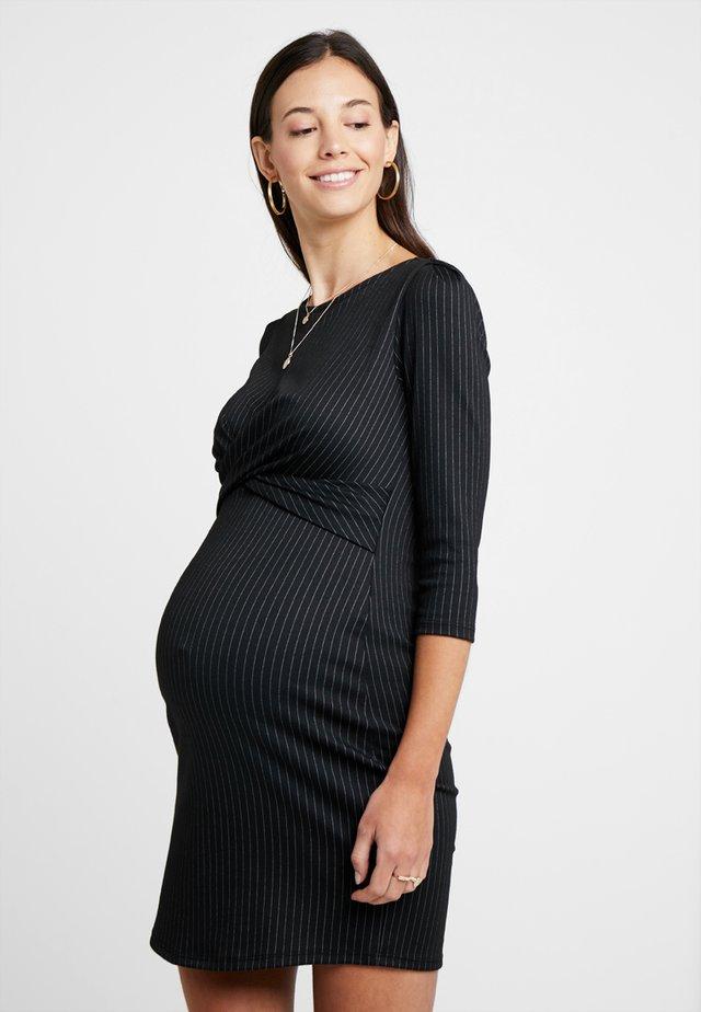 AUDREY - Shift dress - black/grey