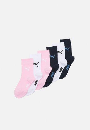 EASY RIDER JUNIOR 4 PACK UNISEX - Socks - navy/white/rose water