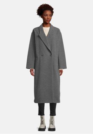 MIT REVERSKRAGEN - Classic coat - dunkelgrau