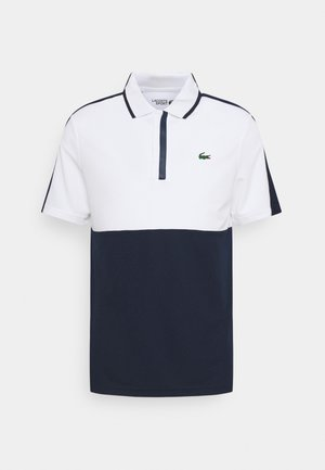 GOLF BLOCK - Sports shirt - white/navy blue/white/navy blue