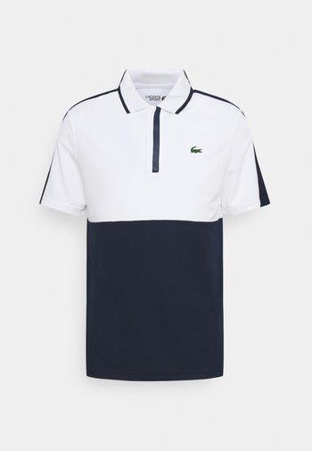 GOLF BLOCK - Sportshirt - white/navy blue/white/navy blue