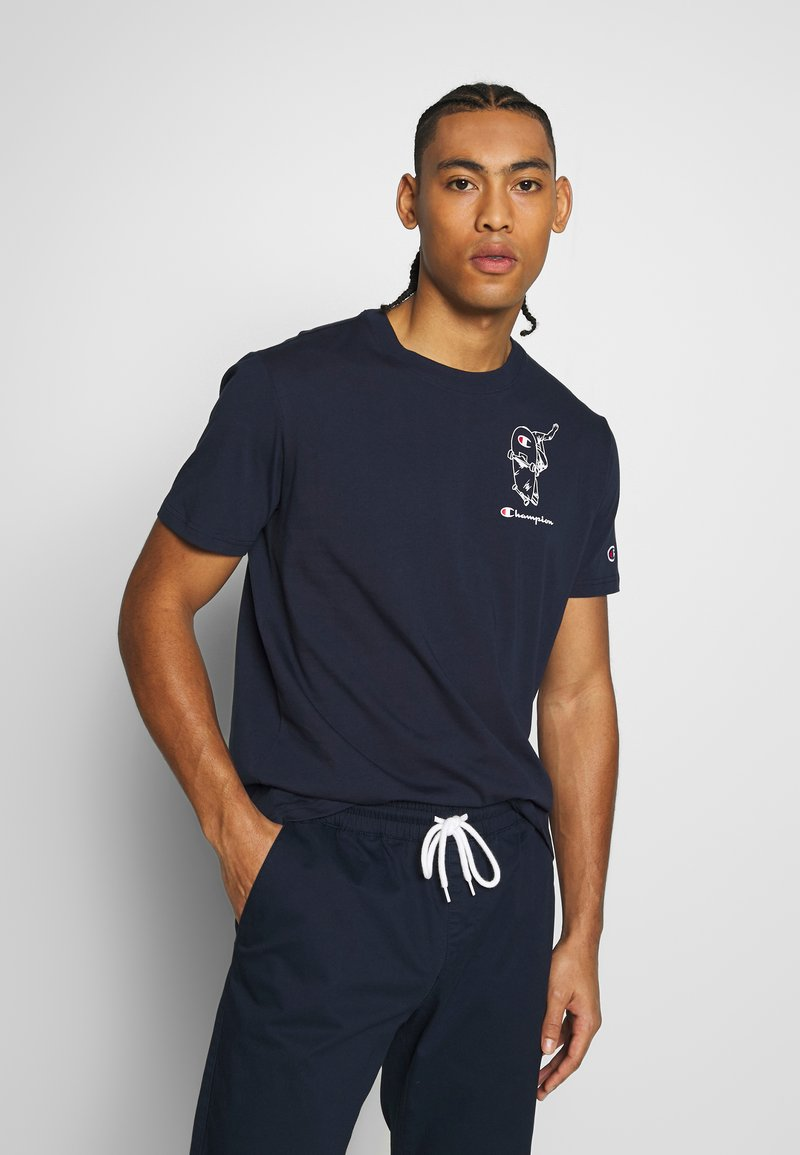 Champion - ROCHESTERS GRAPHIC CREWNECK - T-shirts print - dark blue