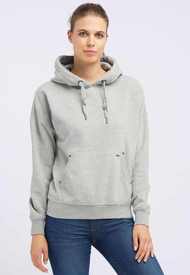 Bluza z kapturem - light gray melange